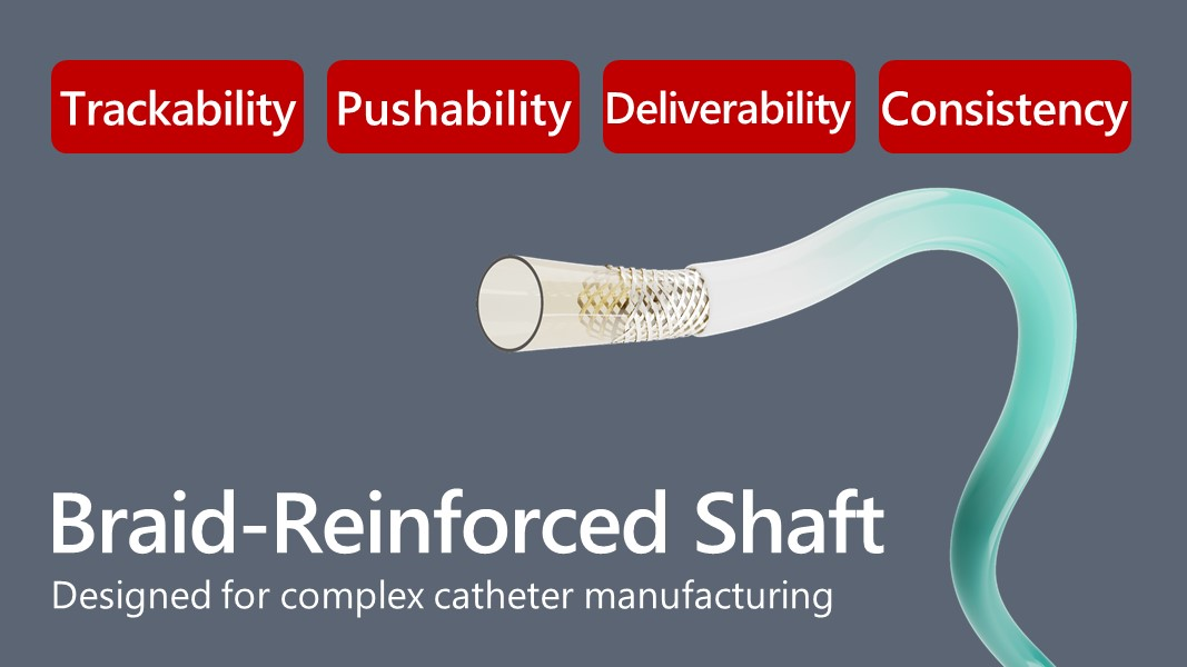 Braid-Reinforced Shaft for Catheter Manufacturing