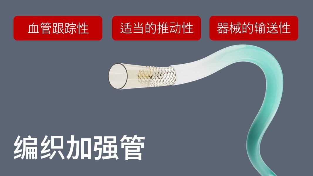 编织管具有良好的血管跟随性和输送性